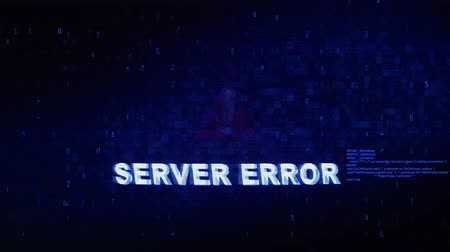 hiba : Server Error Text Digital Noise Glitch Effect Tv Screen Background. Login and Password With System Error Security ,Hacking Alert , Cyber Crime Attack Computer Error Distortion Message .