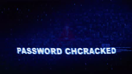 езда с недозволенной скоростью : Password ChCRACKED Text Digital Noise Glitch Effect Tv Screen Background. Login and Password With System Error Security ,Hacking Alert , Cyber Crime Attack Computer Error Distortion Message . Стоковые видеозаписи