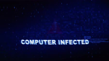 detection : Computer Infected Text Digital Noise Glitch Effect Tv Screen Background. Login and Password With System Error Security ,Hacking Alert , Cyber Crime Attack Computer Error Distortion Message .