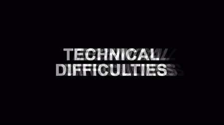 привет : 21. Technical Difficulties Glitch Text Abstract Vintage Twitched 4K Loop Motion Animation . Black Old Retro Digital TV Glitch Effect Including Twitch, Noise, VHS, Distortion. Стоковые видеозаписи