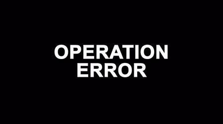 oeps : Operation Error Glitch Text Abstract Vintage Twitched 4K Loop Motion Animation . Black Old Retro Digital TV Glitch Effect Including Twitch, Noise, VHS, Distortion.