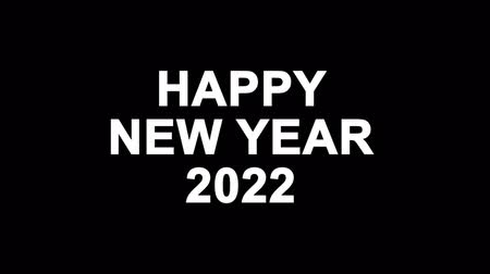 cny : Happy New Year 2022 Glitch Text Abstract Vintage Twitched 4K Loop Motion Animation . Black Old Retro Digital TV Glitch Effect Including Twitch, Noise, VHS, Distortion. Stock Footage