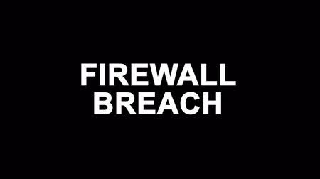 tehdit : Firewall Breach Glitch Text Abstract Vintage Twitched 4K Loop Motion Animation . Black Old Retro Digital TV Glitch Effect Including Twitch, Noise, VHS, Distortion.