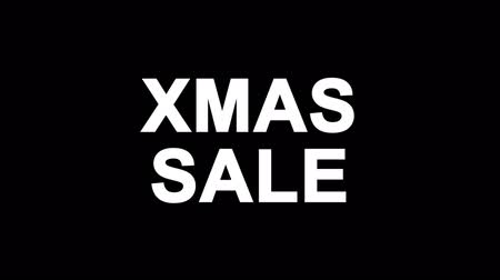 cabeçalho : Xmas Sale Glitch Text Abstract Vintage Twitched 4K Loop Motion Animation . Black Old Retro Digital TV Glitch Effect Including Twitch, Noise, VHS, Distortion.