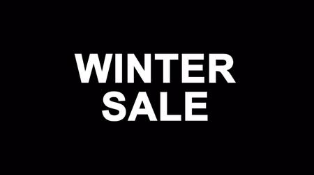 poszter : Winter Sale Glitch Text Abstract Vintage Twitched 4K Loop Motion Animation . Black Old Retro Digital TV Glitch Effect Including Twitch, Noise, VHS, Distortion.