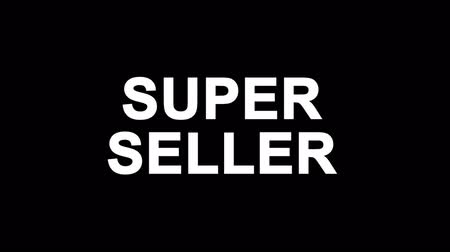 scaffale supermercato : Super Seller Glitch Text Abstract Vintage Twitched 4K Loop Motion Animation . Black Old Retro Digital TV Glitch Effect Including Twitch, Noise, VHS, Distortion.