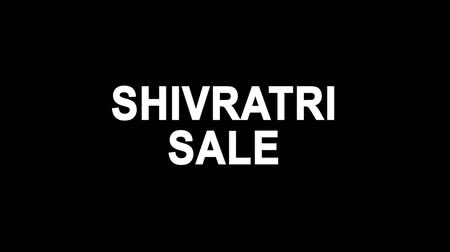 cabeçalho : Shivratri Sale Glitch Text Abstract Vintage Twitched 4K Loop Motion Animation . Black Old Retro Digital TV Glitch Effect Including Twitch, Noise, VHS, Distortion.