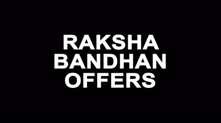 wristband : Raksha Bandhan Offers Glitch Text Abstract Vintage Twitched 4K Loop Motion Animation . Black Old Retro Digital TV Glitch Effect Including Twitch, Noise, VHS, Distortion.