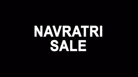 dussehra : Navratri Sale Glitch Text Abstract Vintage Twitched 4K Loop Motion Animation . Black Old Retro Digital TV Glitch Effect Including Twitch, Noise, VHS, Distortion.