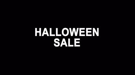 chauves souris : Halloween Sale Glitch Text Abstract Vintage Twitched 4K Loop Motion Animation . Black Old Retro Digital TV Glitch Effect Including Twitch, Noise, VHS, Distortion.