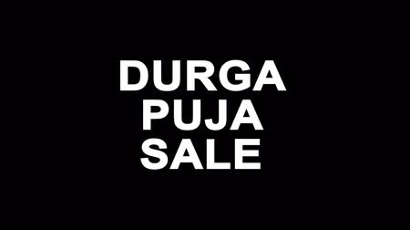 dussehra : Durga Puja Sale Glitch Text Abstract Vintage Twitched 4K Loop Motion Animation . Black Old Retro Digital TV Glitch Effect Including Twitch, Noise, VHS, Distortion.