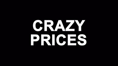 procent : Crazy Prices Glitch Text Abstract Vintage Twitched 4K Loop Motion Animation . Black Old Retro Digital TV Glitch Effect Including Twitch, Noise, VHS, Distortion.