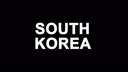 gyeongbokgung : SOUTH KOREA Glitch Text Abstract Vintage Twitched 4K Loop Motion Animation . Black Old Retro Digital TV Glitch Effect Including Twitch, Noise, VHS, Distortion. Stock Footage
