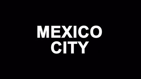 cdmx : MEXICO CITY Glitch Text Abstract Vintage Twitched 4K Loop Motion Animation . Black Old Retro Digital TV Glitch Effect Including Twitch, Noise, VHS, Distortion.