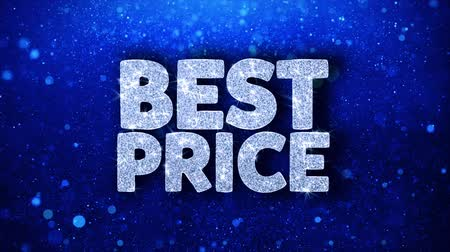 ベスト : Best Price Blue Text Greetings card Abstract Blinking Sparkle Glitter Particle Looped Background. Gift, card, Invitation, Celebration, Events, Message, Holiday Festival 動画素材