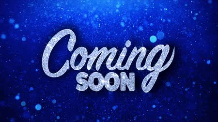 поощрение : Coming Soon Greetings card Abstract Blinking Sparkle Glitter Particle Looped Background. Gift, card, Invitation, Celebration, Events, Message, Holiday Festival Стоковые видеозаписи