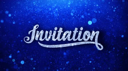 招待状 : Invitation Greetings card Abstract Blinking Sparkle Glitter Particle Looped Background. Gift, card, Invitation, Celebration, Events, Message, Holiday Festival