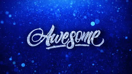 espetacular : Awesome Blue Text Greetings card Abstract Blinking Sparkle Glitter Particle Looped Background. Gift, card, Invitation, Celebration, Events, Message, Holiday Festival
