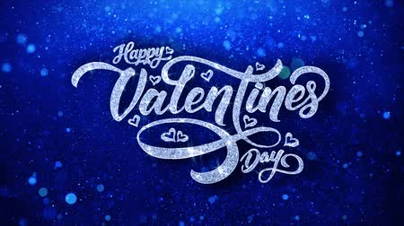 я тебя люблю : Valentine Day Blue Text Greetings card Abstract Blinking Sparkle Glitter Particle Looped Background. Gift, card, Invitation, Celebration, Events, Message, Holiday Festival
