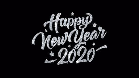 ano novo chinês : Happy New Year 2020 Blinking Text Greetings card Abstract Blinking Sparkle Glitter Particle Looped Background. Gift, card, Invitation, Celebration, Events, Message, Holiday Festival