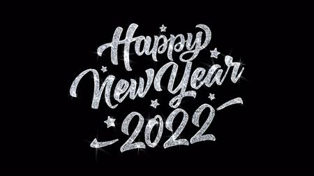 gratulací : Happy New Year 2022 Blinking Text Greetings card Abstract Blinking Sparkle Glitter Particle Looped Background. Gift, card, Invitation, Celebration, Events, Message, Holiday Festival Dostupné videozáznamy