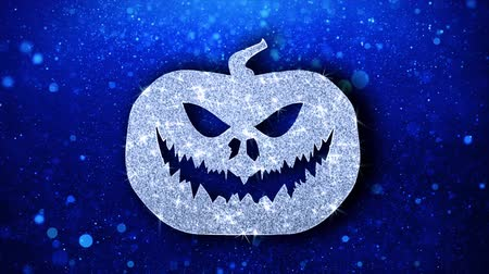 diabeł : Happy Halloween Element Icon Symbol Abstract Blinking Sparkle Glitter Particle Looped Background. Gift, card, Events, Message, Holiday. Wideo