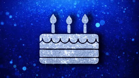 стример : Happy Birthday Element Icon Symbol Abstract Blinking Sparkle Glitter Particle Looped Background. Gift, card, Events, Message, Holiday.