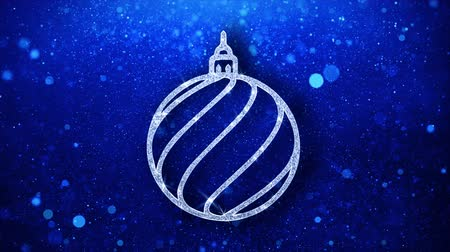 świety mikołaj : Christmas Ornament Sleigh Bell Element Icon Symbol Abstract Blinking Sparkle Glitter Particle Looped Background.