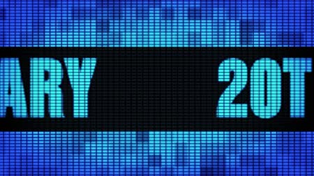 to you : 20th Anniversary Front Text Scrolling on Light Blue Digital LED Display Board Pixel Light Screen Looped Animation 4K Background. Sign Board , Blinking Light, Pixel Monitor, LED Wall Pannel
