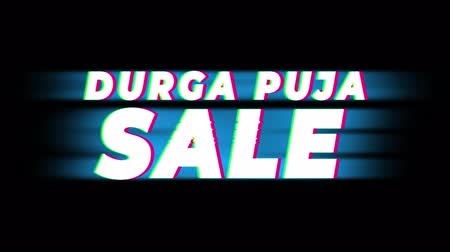 puja : XXXXXXX Text Glitch Effect Promotion Advertisement Loop Background. Price Tag, Sale, Discounts, Deals, Special Offers, Green Screen and Alpha Matte Stock Footage