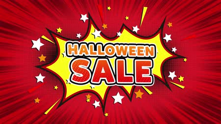 autumn discounts : Halloween Sale Text Pop Art Style Expression. Retro Comic Bubble Expression Cartoon illustration, Sale, Discounts, Percentages, Deal, Offer on Green Screen