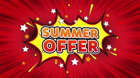 shops : Summer Clearance Text Pop Art Style Expression. Retro Comic Bubble Expression Cartoon illustration, Sale, Discounts, Percentages, Deal, Offer on Green Screen