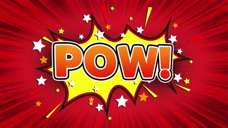 estalo : Pow! Text Pop Art Style Expression. Retro Comic Bubble Expression Cartoon illustration, Isolated Flat Cartoon Comic Style on Green Screen