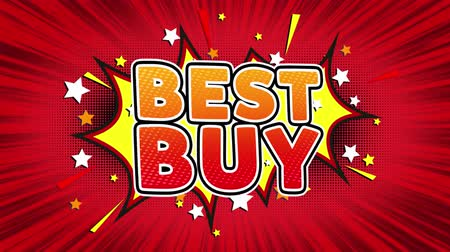 cupom : Best Buy Text Pop Art Style Expression. Retro Comic Bubble Expression Cartoon illustration, Sale, Discounts, Percentages, Deal, Offer on Green Screen Vídeos