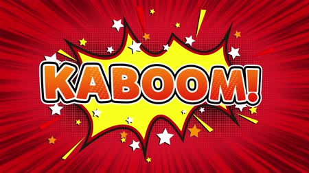 comics pop : KaBoom! Text Pop Art Style Expression. Retro Comic Bubble Expression Cartoon illustration, Isolated Flat Cartoon Comic Style on Green Screen
