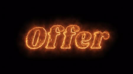 papel : Offer Word Hot Animated Burning Realistic Fire Flame and Smoke Seamlessly loop Animation on Isolated Black Background. Fire Word, Fire Text, Flame word, Flame Text, Burning Word, Burning Text.