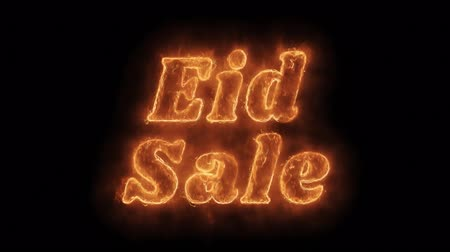 ограничен : Eid Sale Word Hot Animated Burning Realistic Fire Flame and Smoke Seamlessly loop Animation on Isolated Black Background. Fire Word, Fire Text, Flame word, Flame Text, Burning Word, Burning Text. Стоковые видеозаписи