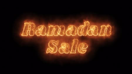 редактируемые : Ramadan Sale Word Hot Animated Burning Realistic Fire Flame and Smoke Seamlessly loop Animation on Isolated Black Background. Fire Word, Fire Text, Flame word, Flame Text, Burning Word, Burning Text.