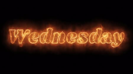 čtvrtek : Wednesday Word Hot Animated Burning Realistic Fire Flame and Smoke Seamlessly loop Animation on Isolated Black Background. Fire Word, Fire Text, Flame word, Flame Text, Burning Word, Burning Text. Dostupné videozáznamy