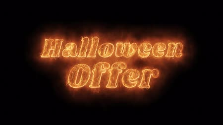 okładka : Halloween Sale Word Hot Animated Burning Realistic Fire Flame and Smoke Seamlessly loop Animation on Isolated Black Background. Fire Word, Fire Text, Flame Text, Burning Word, Burning Text.