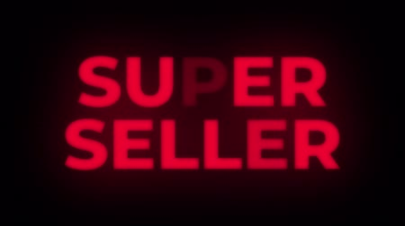 celkový : Super Seller Text Blinking Flickering Neon Red Sign Promotional Loop Background. Sale, Discounts, Deals, Special Offers. Green Screen and Alpha Matte