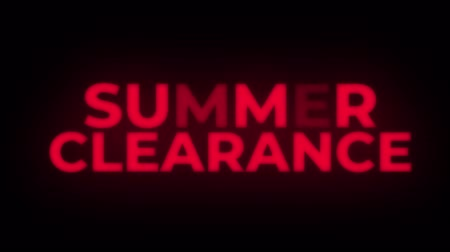 celkový : Summer Clearance Text Blinking Flickering Neon Red Sign Loop Background. Sale, Discounts, Deals, Special Offers. Green Screen and Alpha Matte Dostupné videozáznamy