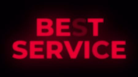 poll : Best Service Text Blinking Flickering Neon Red Sign Promotional Loop Background. Sale, Discounts, Deals, Special Offers. Green Screen and Alpha Matte