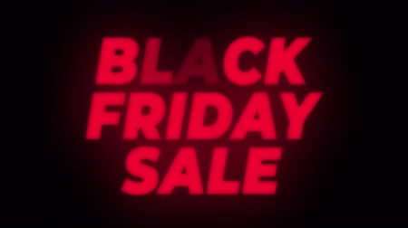 cupom : Black Friday Sale Text Blinking Flickering Neon Red Sign Promotional Loop Background. Sale, Discounts, Deals, Special Offers. Green Screen and Alpha Matte