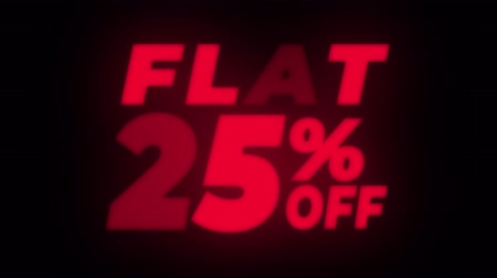 erkeklere özel : Flat 25% Percent Off Text Blinking & Flickering Neon Red Sign Promotional Loop Background. Sale, Discounts, Deals, Special Offers. Green Screen and Alpha Matte