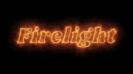 rind : Firelight Word Hot Animated Burning Realistic Fire Flame and Smoke Seamlessly loop Animation on Isolated Black Background. Fire Word, Fire Text, Flame word, Flame Text, Burning Word, Burning Text.