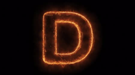 strojopis : Alphabet D Word Hot Animated Burning Realistic Fire Flame and Smoke Seamlessly loop Animation on Isolated Black Background. Fire Word, Fire Text, Flame word, Flame Text, Burning Word, Burning Text.