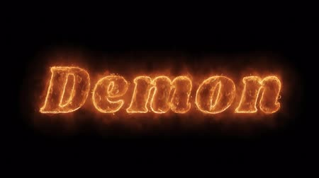 маска : Demon Word Hot Animated Burning Realistic Fire Flame and Smoke Seamlessly loop Animation on Isolated Black Background. Fire Word, Fire Text, Flame word, Flame Text, Burning Word, Burning Text.