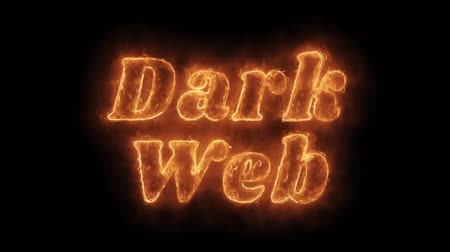 кража : Dark Web Word Hot Animated Burning Realistic Fire Flame and Smoke Seamlessly loop Animation on Isolated Black Background. Fire Word, Fire Text, Flame word, Flame Text, Burning Word, Burning Text. Стоковые видеозаписи