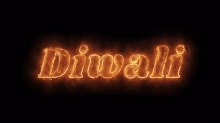 освещенный : Diwali Word Hot Animated Burning Realistic Fire Flame and Smoke Seamlessly loop Animation on Isolated Black Background. Fire Word, Fire Text, Flame word, Flame Text, Burning Word, Burning Text. Стоковые видеозаписи